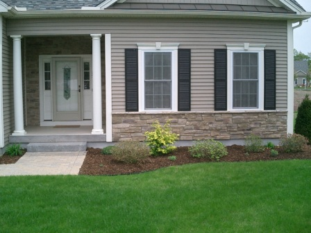 Stone Front House cultured stone facades